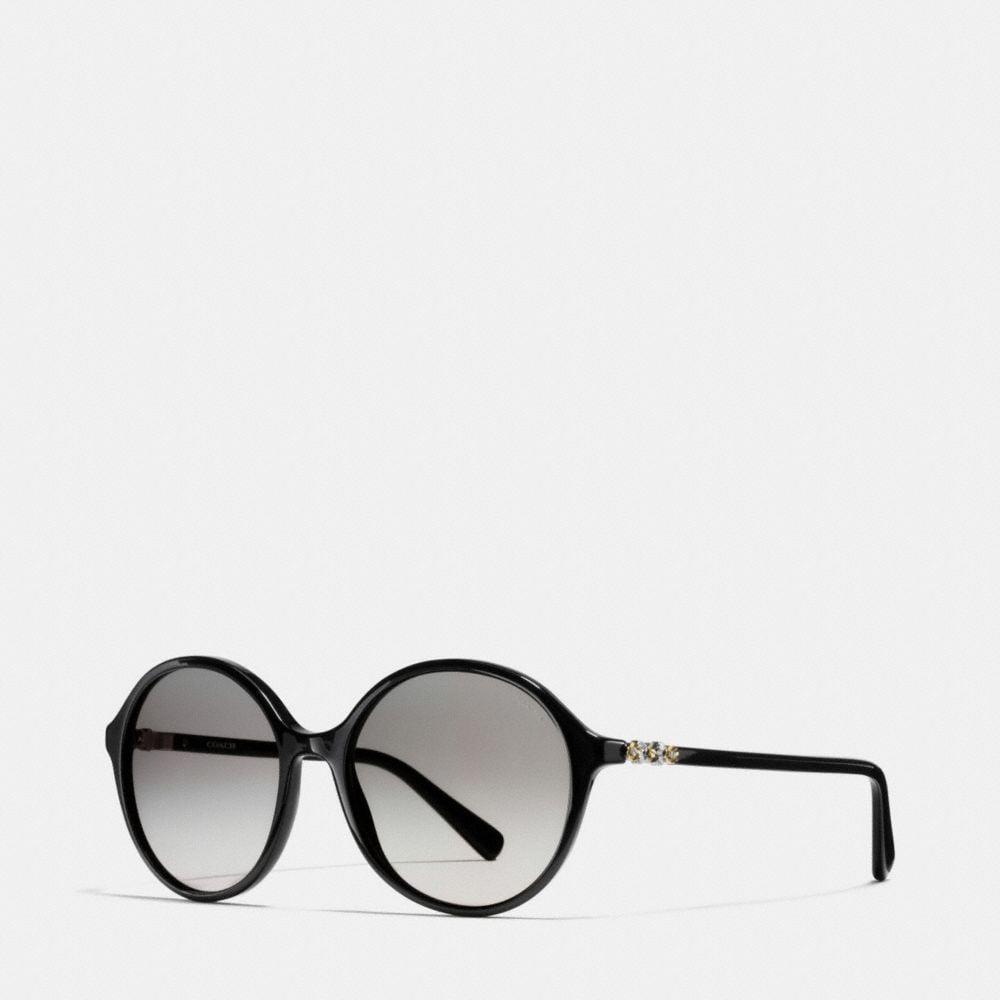 Daisy Rivet Round Sunglasses