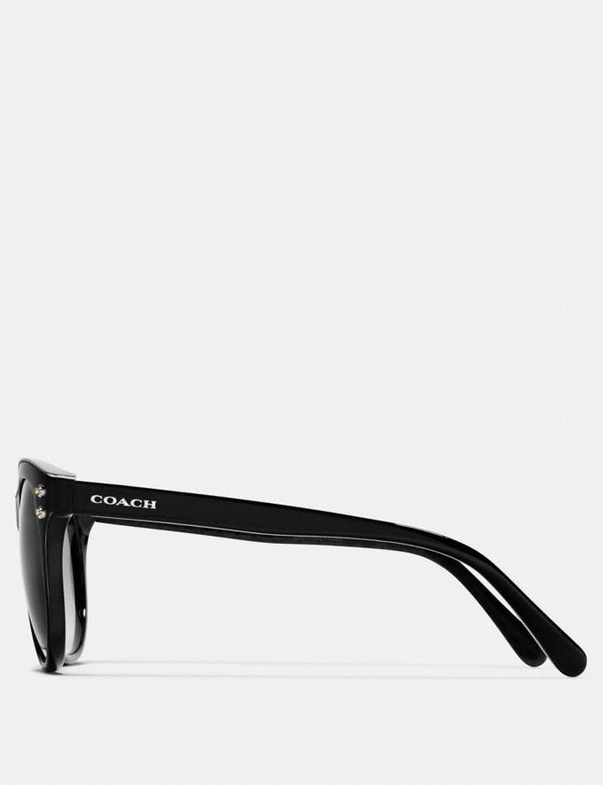 Coach Coach New York Round Sunglasses Black/Black Gunmetal New Featured Starry Nights Alternate View 2
