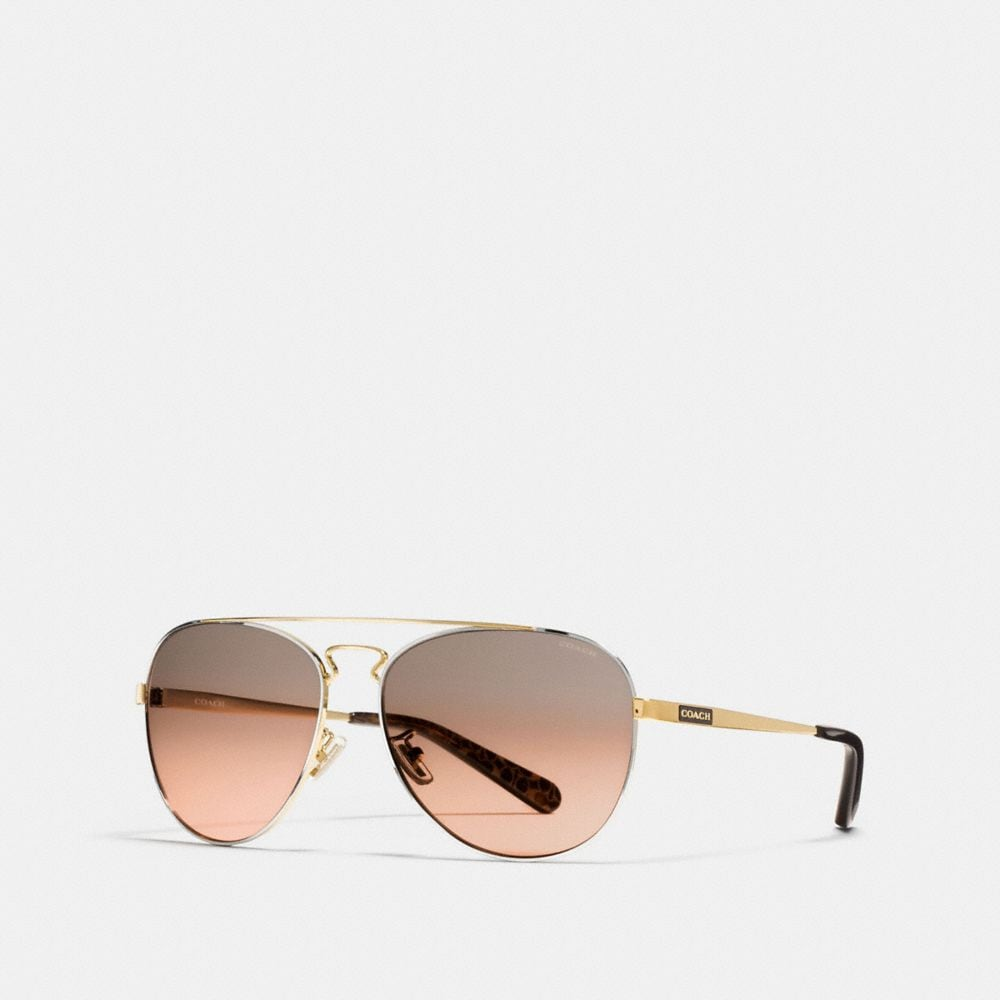 Coach New York Pilot Sunglasses