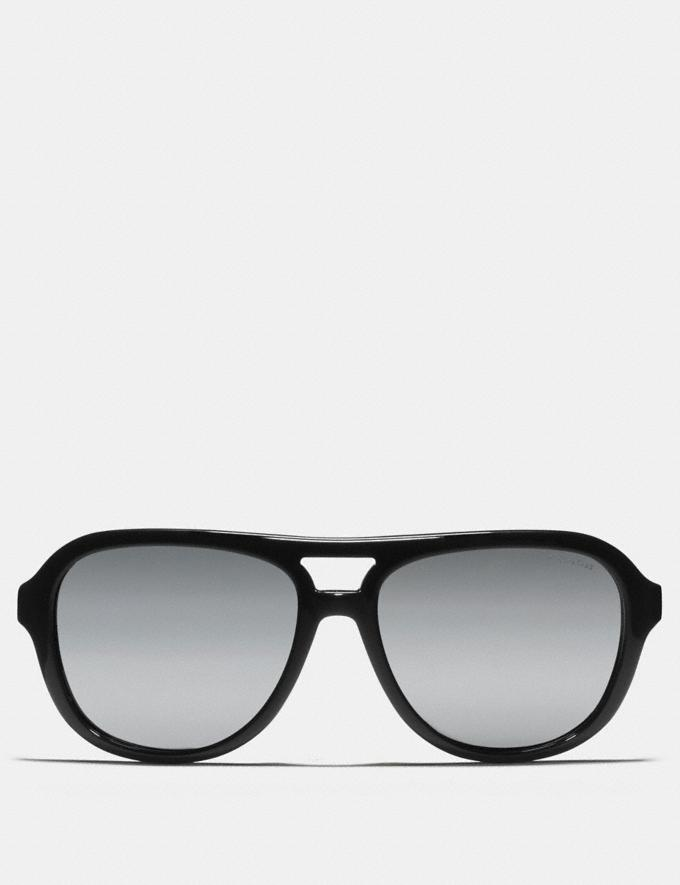 Coach James Pilot Sunglasses Dark Tortoise/Gunmetal Men Accessories Sunglasses Alternate View 1