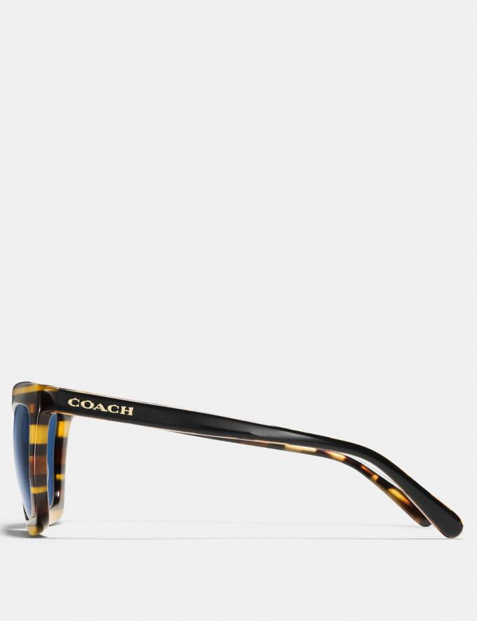 Coach Varsity Rectangle Sunglasses Blue Glitter Varsity Stripe Women Accessories Sunglasses Alternate View 2