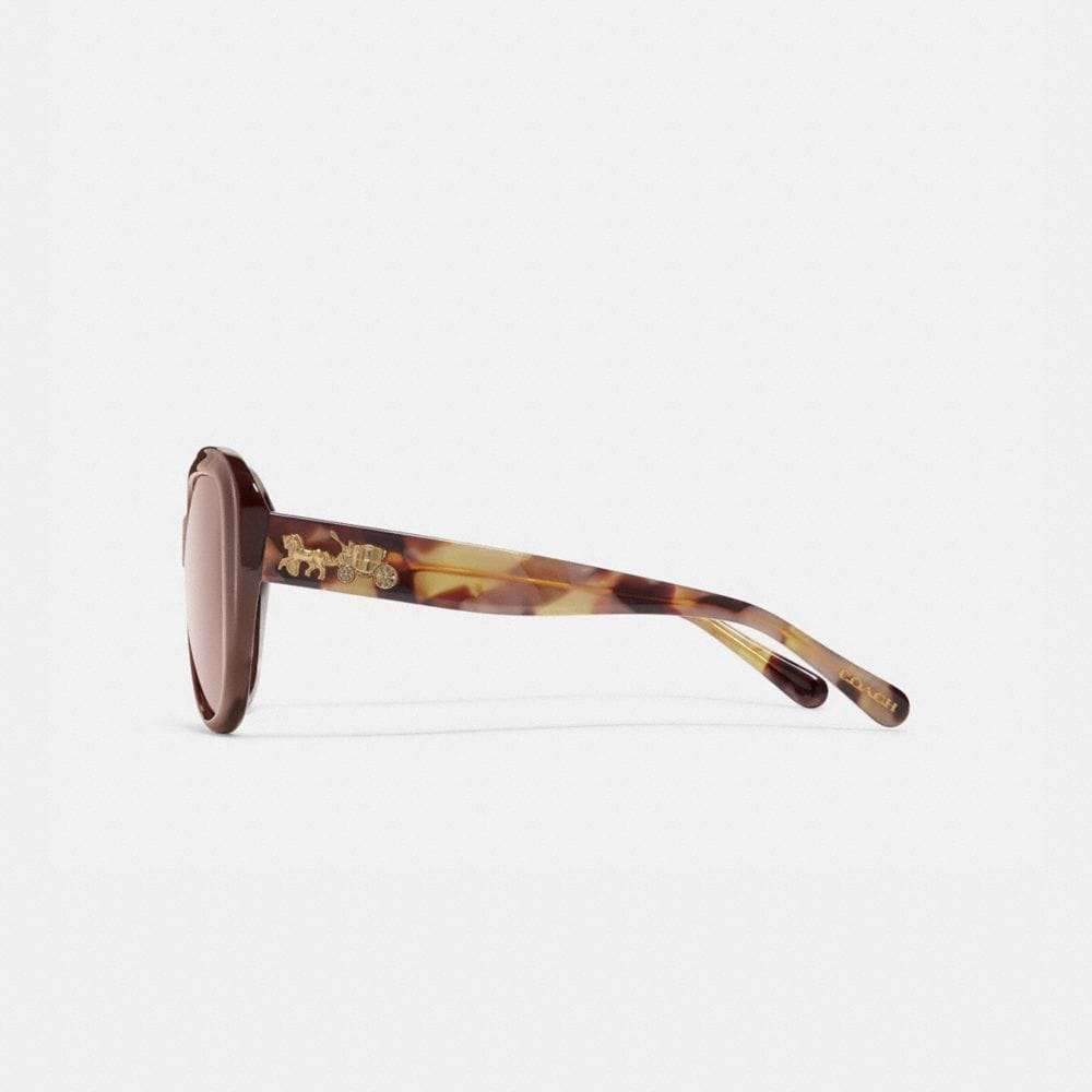Coach Horse and Carriage Soft Square Sunglasses Alternate View 3