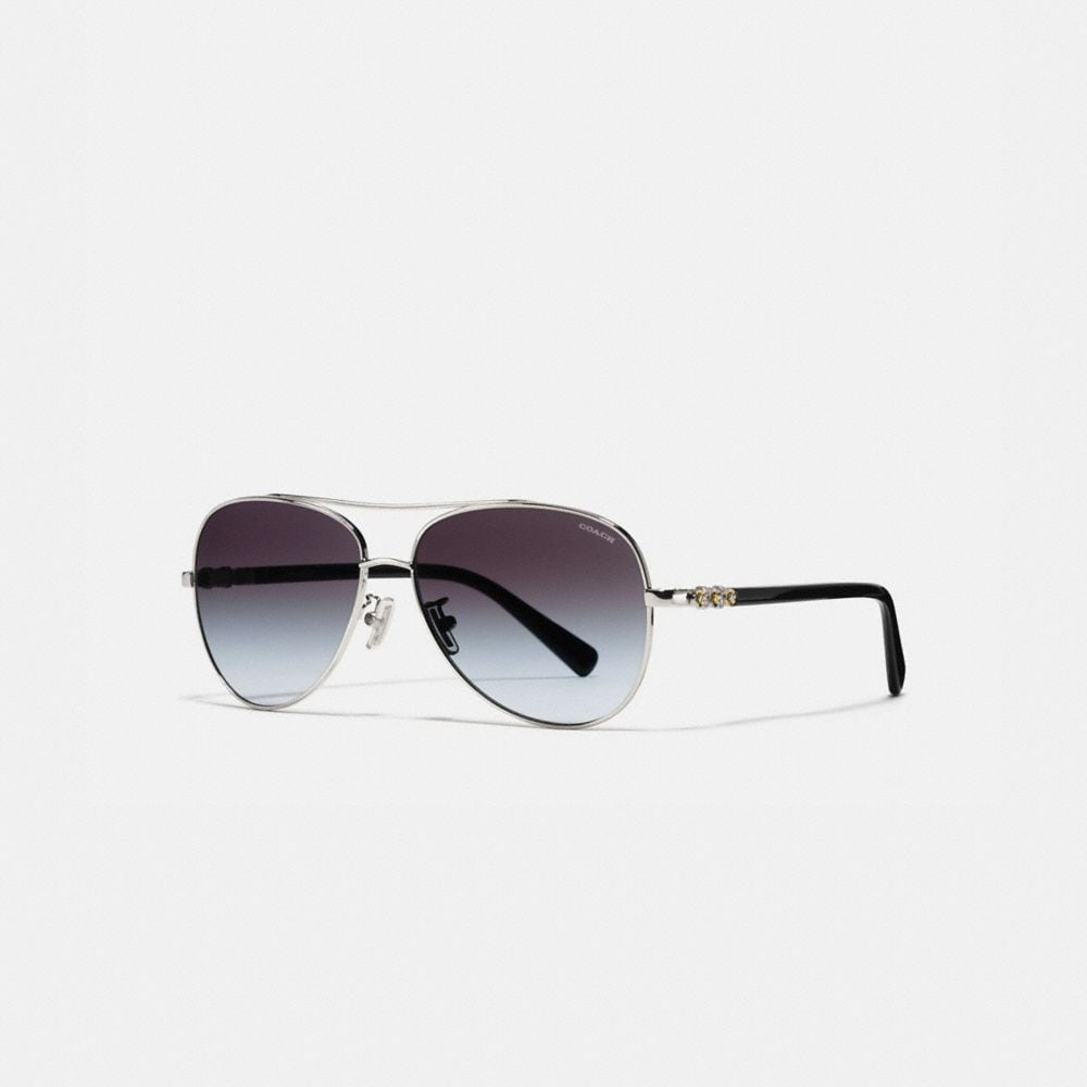 Coach Daisy Rivet Pilot Sunglasses