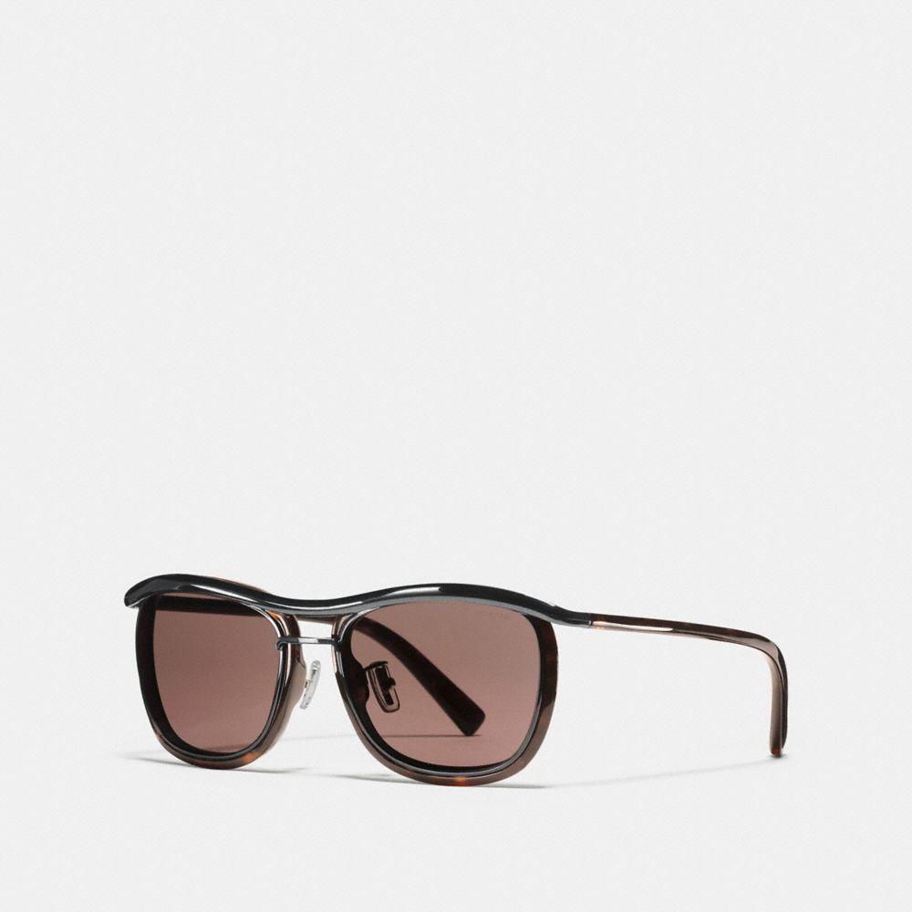 Rimmed Pilot Sunglasses