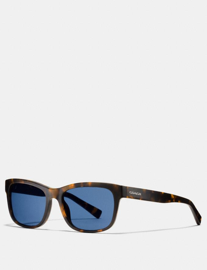Coach Hudson Rectangle Sunglasses Matte Dark Tortoise