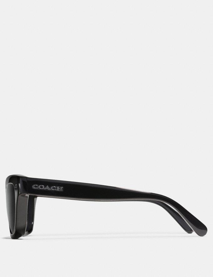 Coach Badlands Sunglasses Black Grey New Featured Rebellious Prints Alternate View 2