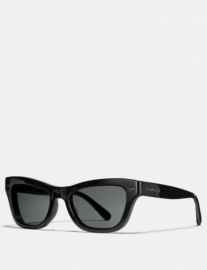 Coach Badlands Sunglasses Black Grey New Featured Rebellious Prints