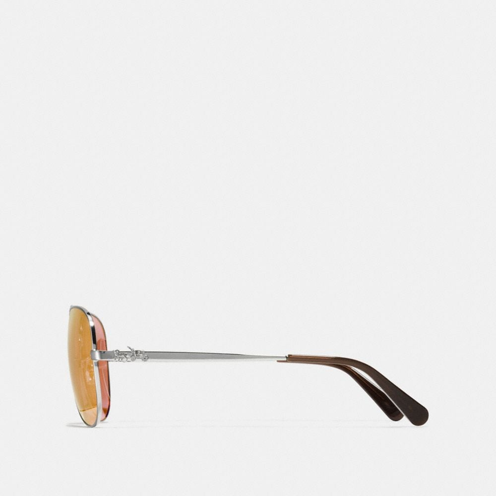 Coach Horse and Carriage Metal Pilot Sunglasses Alternate View 2