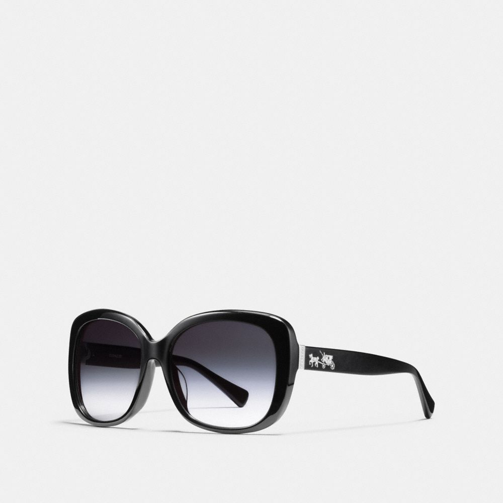 Coach Horse and Carriage Asian Fit Square Sunglasses