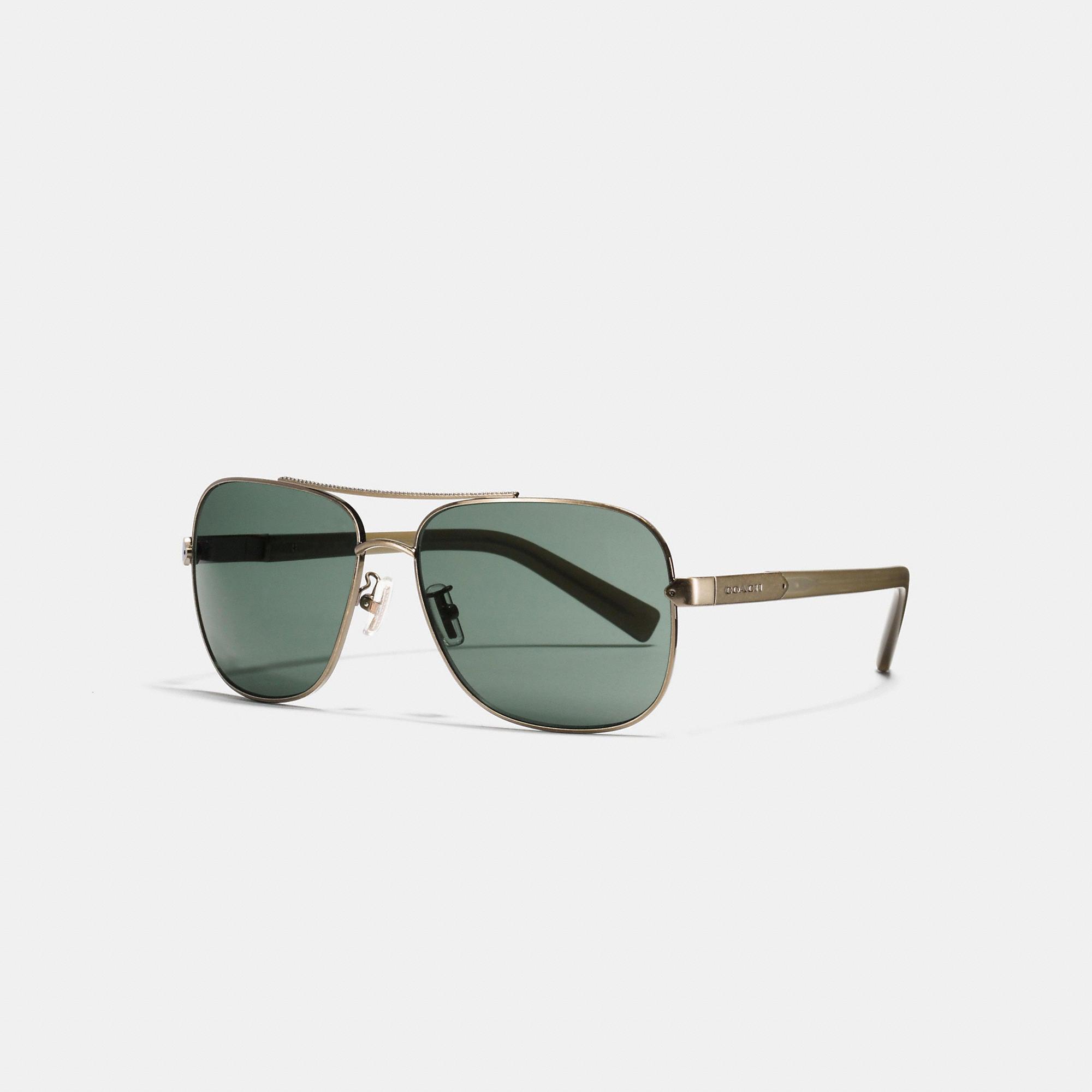 Coach Tag Temple Navigator Sunglasses