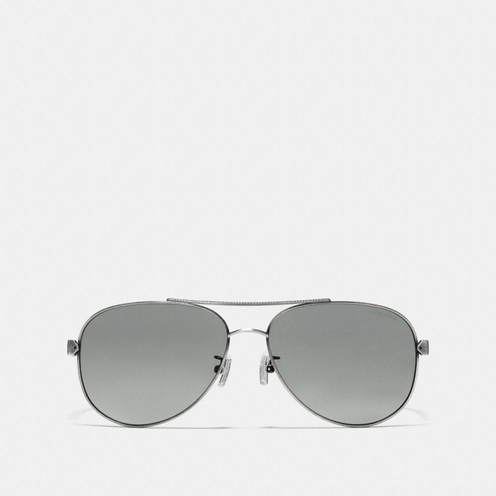 Coach Tag Temple Pilot Sunglasses Alternate View 1