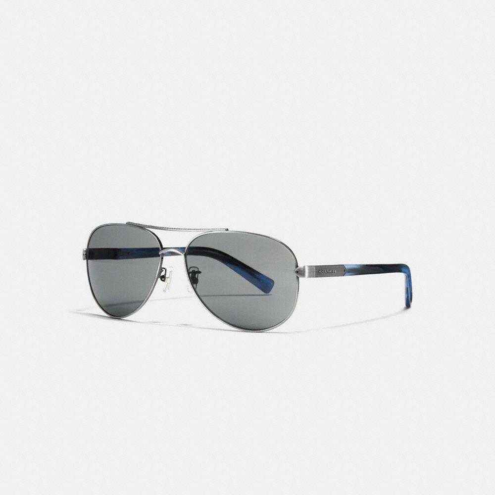 Coach Tag Temple Pilot Sunglasses