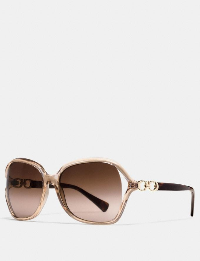 Coach Kissing C Sunglasses Brown Clearance