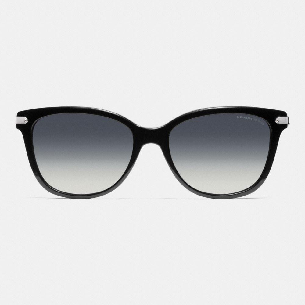 Coach Tag Temple Cat Eye Polarized Sunglasses Alternate View 1