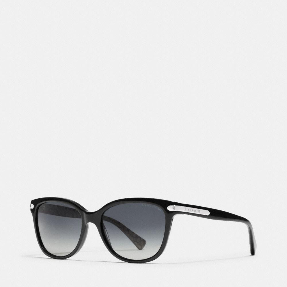 Coach Tag Temple Cat Eye Polarized Sunglasses