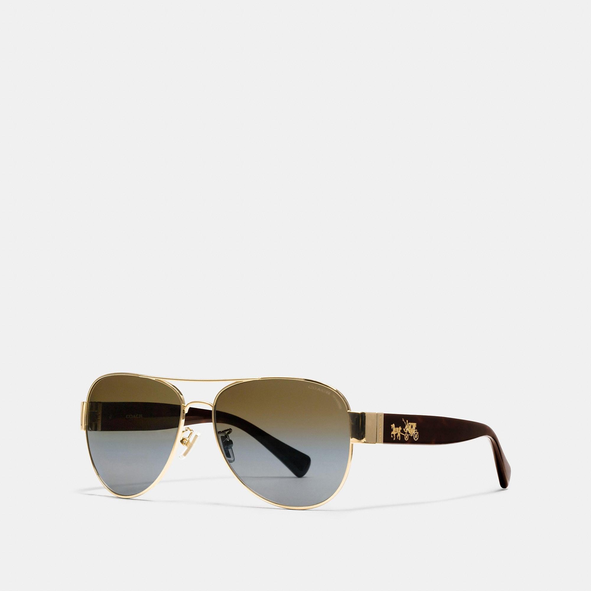 Coach Horse And Carriage Pilot Polarized Sunglasses