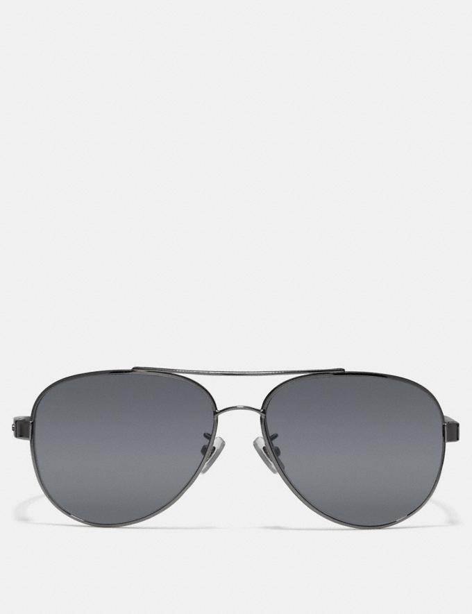 bfea6d54f38e Coach Thompson Polarized Sunglasses Gunmetal/Black CYBER MONDAY SALE Men's  Sale Accessories Alternate View 1