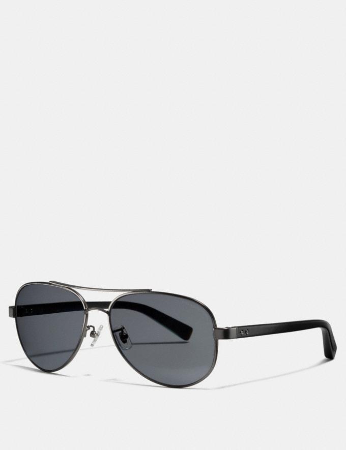 dcb3e28a22b1 Coach Thompson Polarized Sunglasses Gunmetal/Black CYBER MONDAY SALE Men's  Sale Accessories