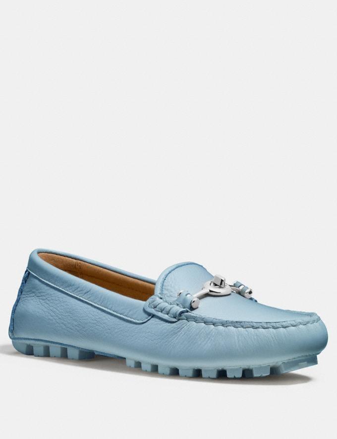 Coach Arlene Moccasin Burgundy Women Shoes Flats