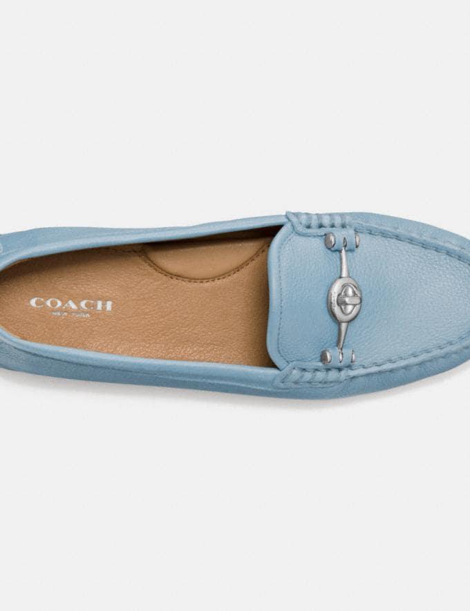 Coach Arlene Moccasin Burgundy Women Shoes Flats Alternate View 2
