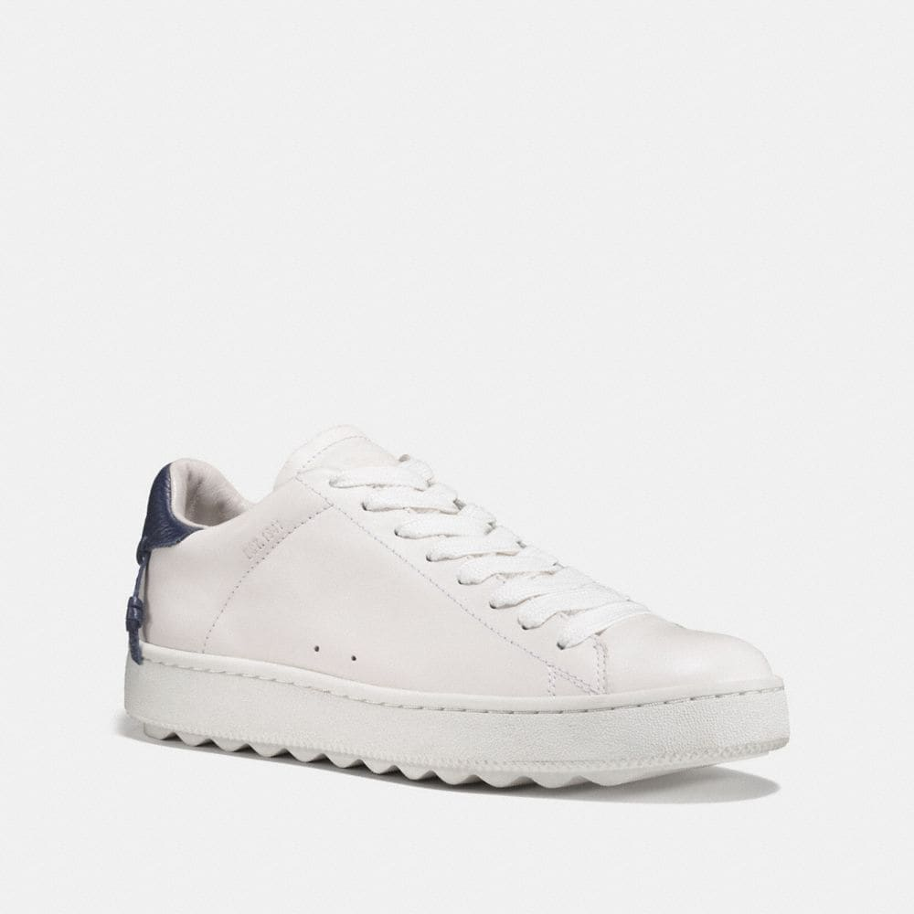 Coach Perforated Leather Low-Top Sneakers