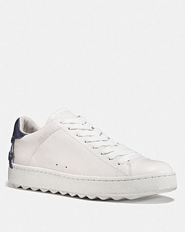 Coach Perforated Leather Low-Top Sneakers nOcOjmB6xV
