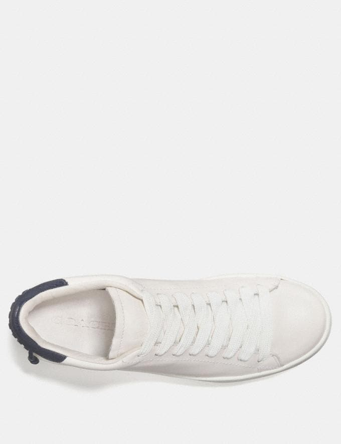 Coach C101 Low Top Sneaker White/Midnight Navy Women Shoes Sneakers Alternate View 2