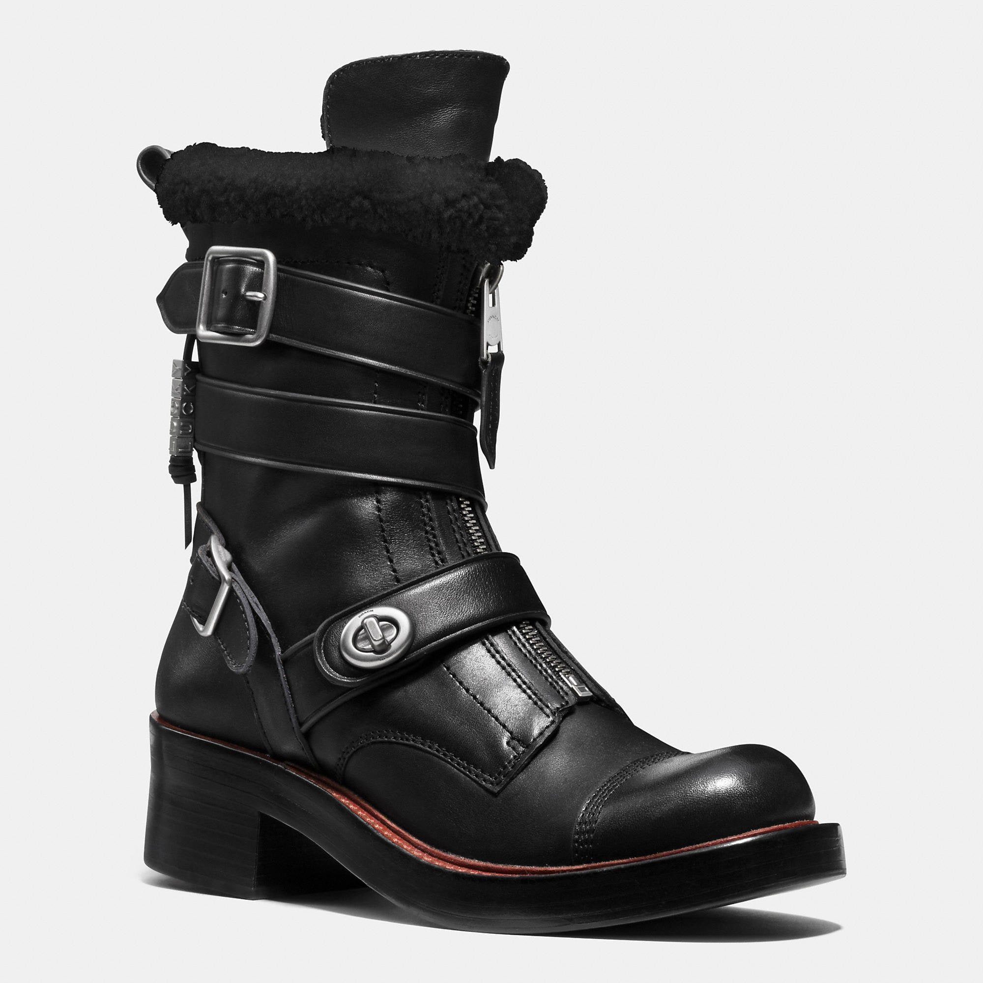 Coach Zip Moto Boot