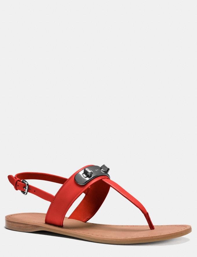 Coach Gracie Swagger Sandal Carmine Women Shoes Sandals
