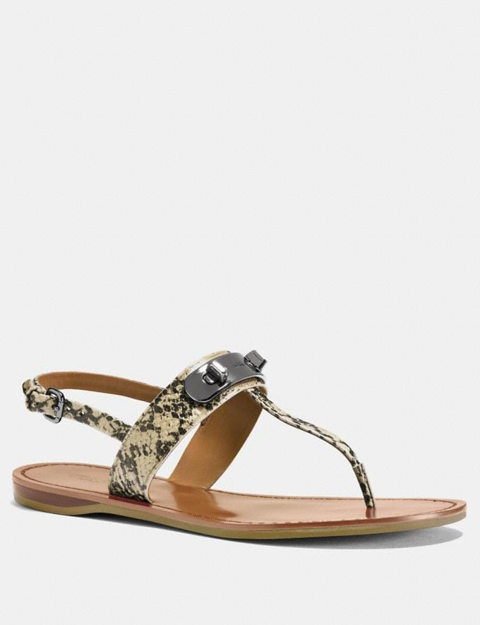 Coach Gracie Swagger Sandal Natural Women Shoes Sandals