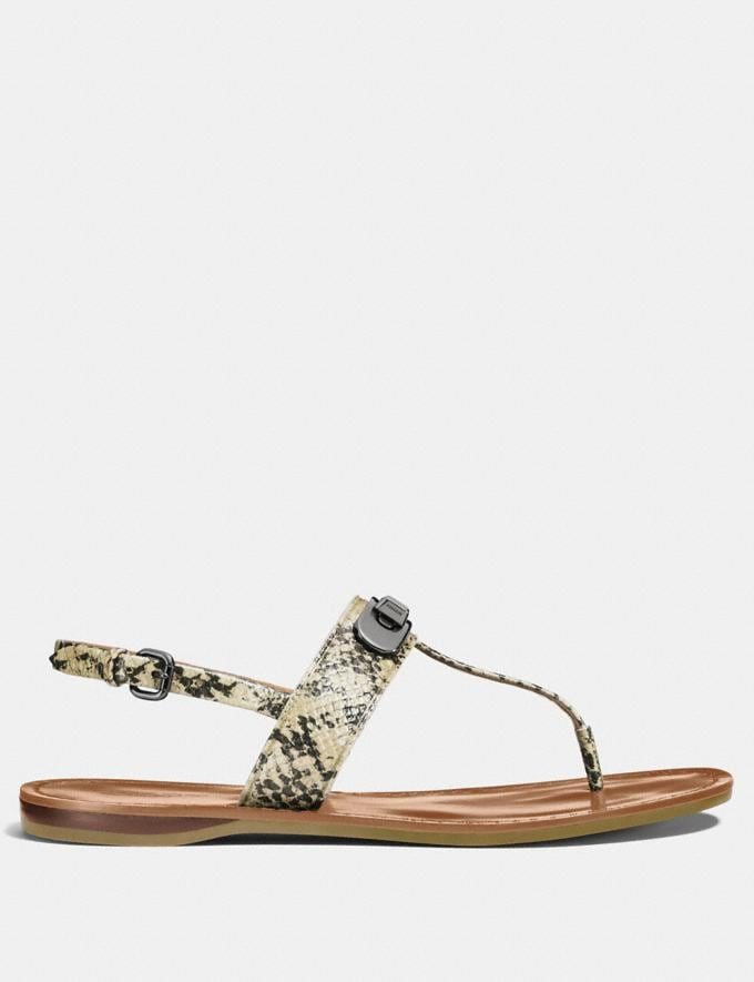 Coach Gracie Swagger Sandal Natural Women Shoes Sandals Alternate View 1