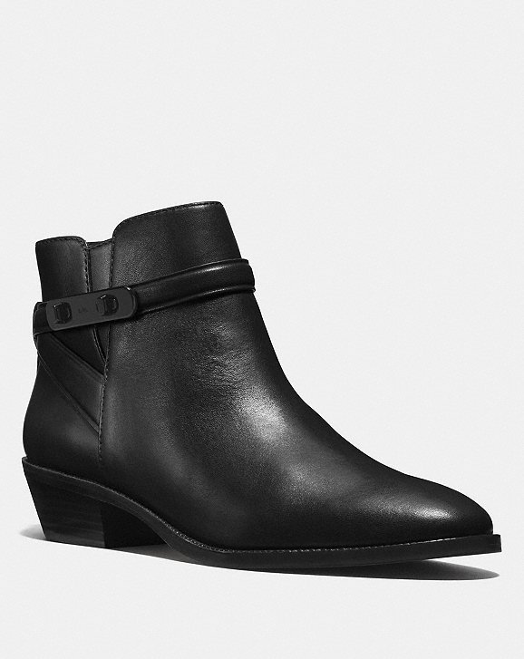 Womens Boots COACH Coleen Black Leather
