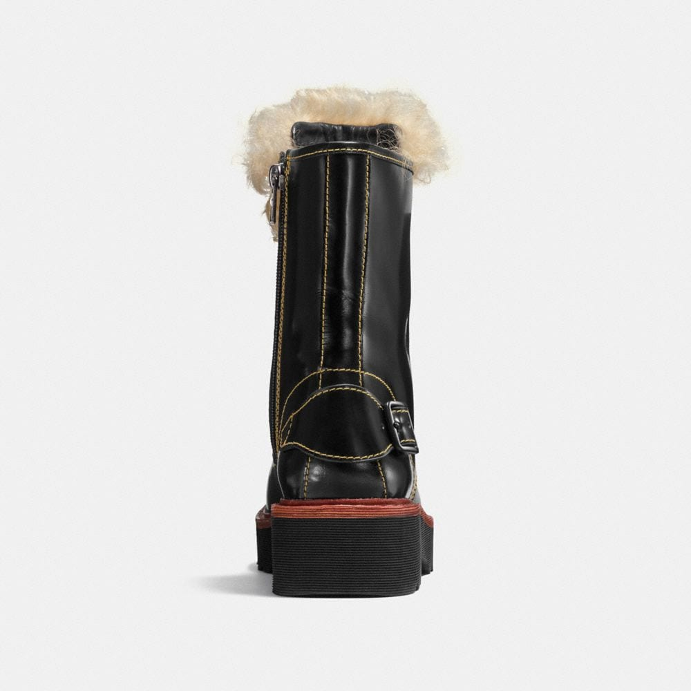Coach Moto Hiker Boot With Shearling Alternate View 2