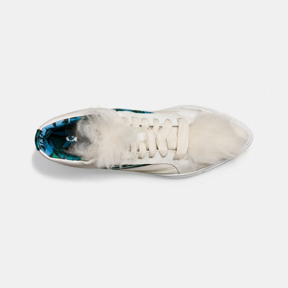 C203 Shearling Pointy Toe High Top Sneaker - Alternate View L1