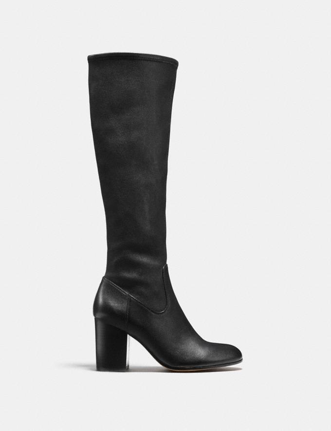Coach Bergen Boot Black/Black Women Shoes Boots Alternate View 1