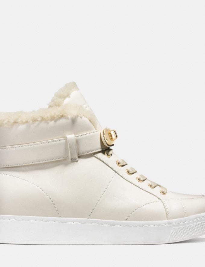 Coach Richmond Shearling Sneaker Chalk/Natural Women Shoes Sneakers Alternate View 1