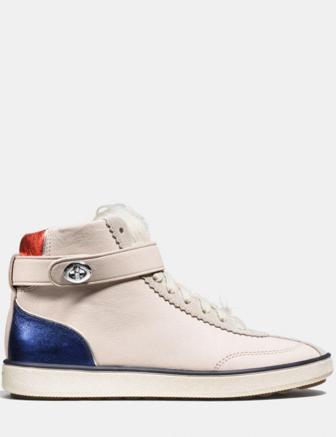 Coach C213 Shearling Sneaker Chalk/Natural Women Shoes Sneakers Alternate View 1