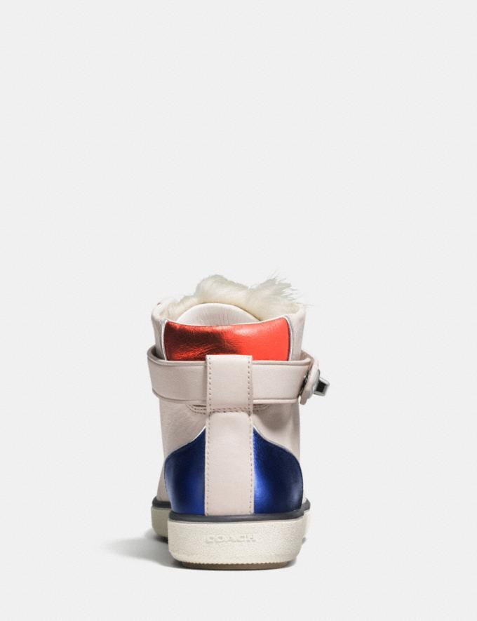 Coach C213 Shearling Sneaker Chalk/Natural Women Shoes Sneakers Alternate View 3