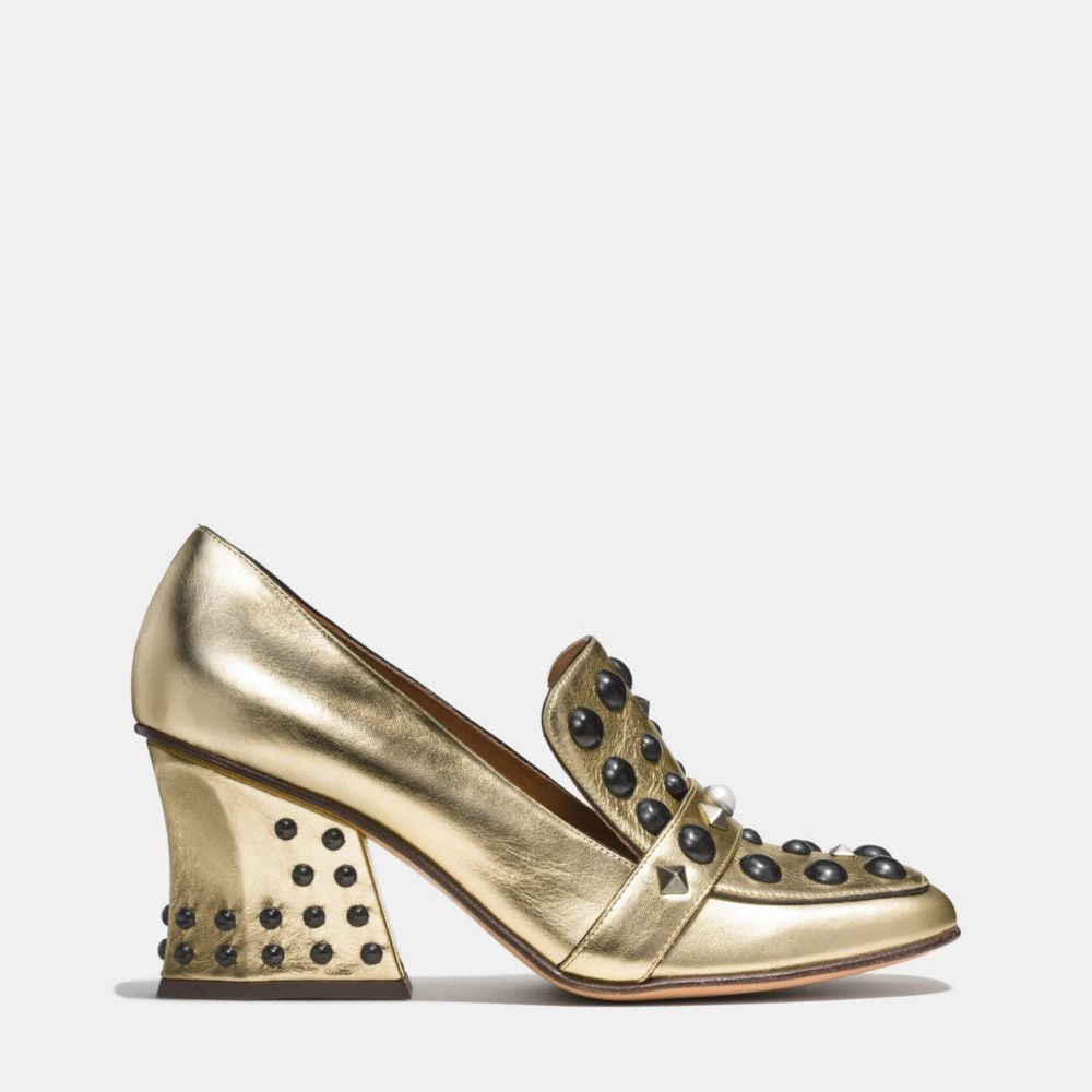 Coach High Vamp Loafer With Studs Alternate View 1