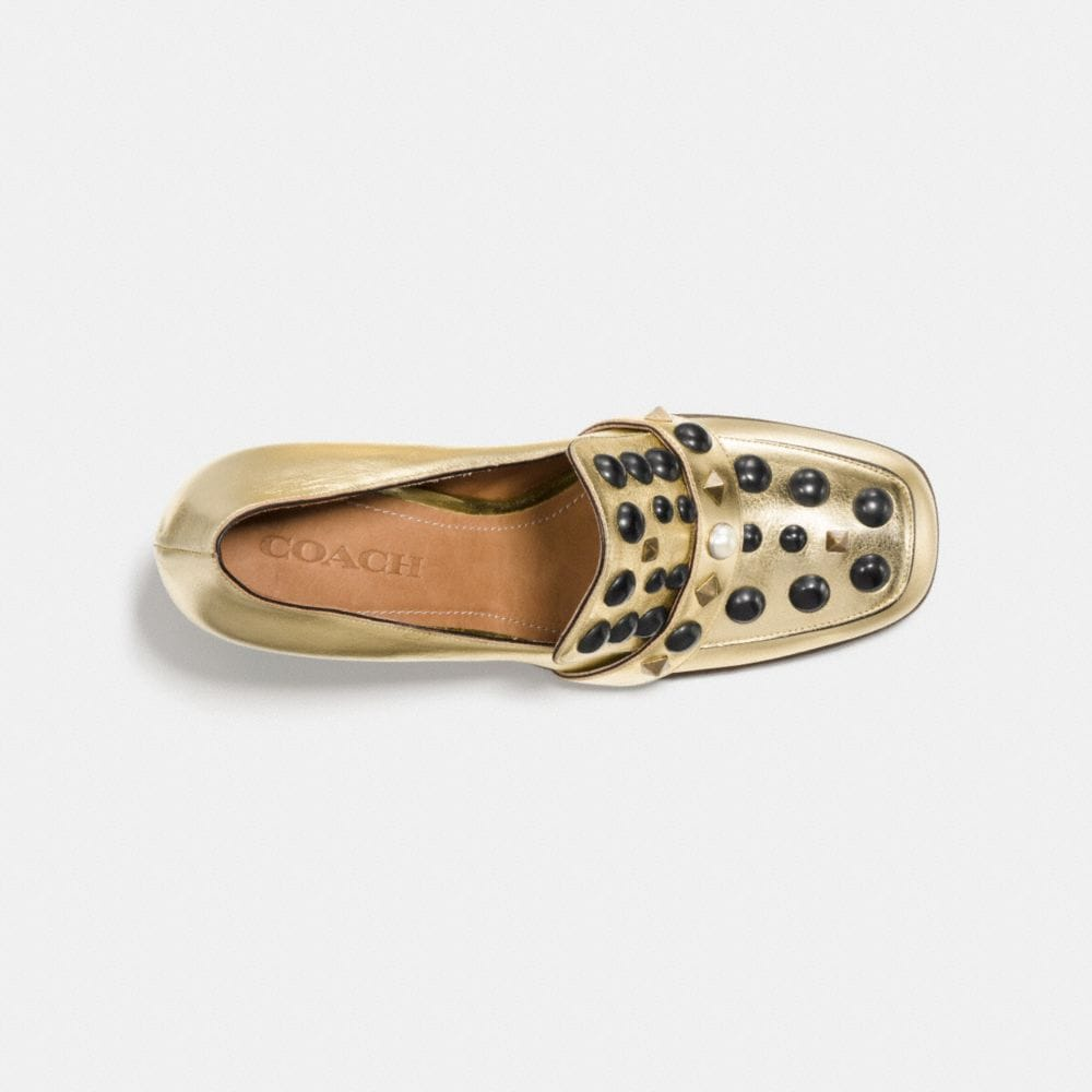 Coach High Vamp Loafer With Studs Alternate View 2