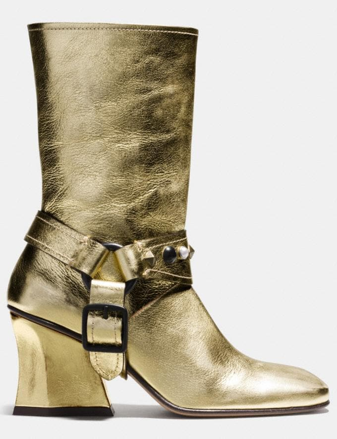 Coach Harness Boot Gold Women Shoes Boots Alternate View 1