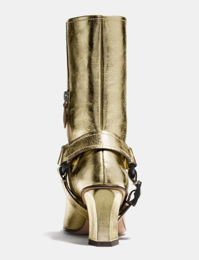 Coach Harness Boot Gold Women Shoes Boots Alternate View 2