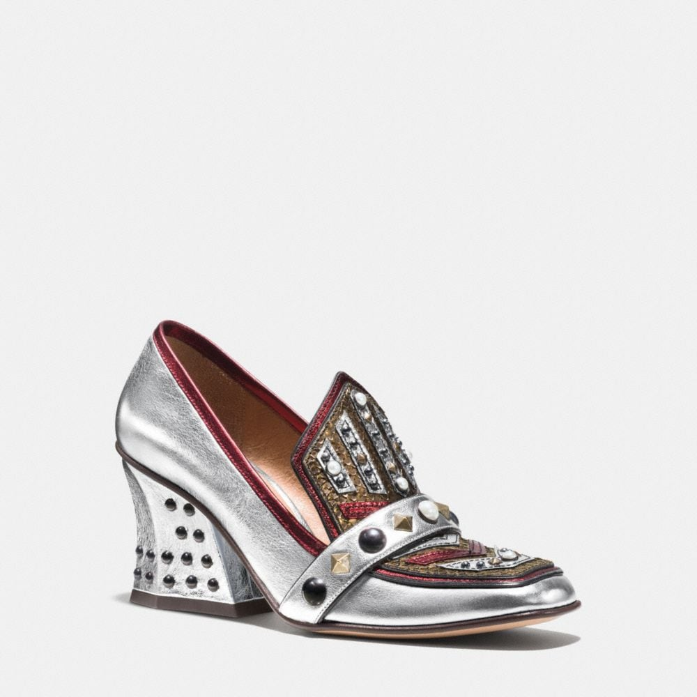 Coach High Vamp Loafer With Shield