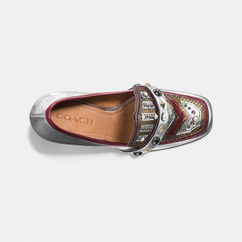 Coach High Vamp Loafer With Shield Alternate View 2