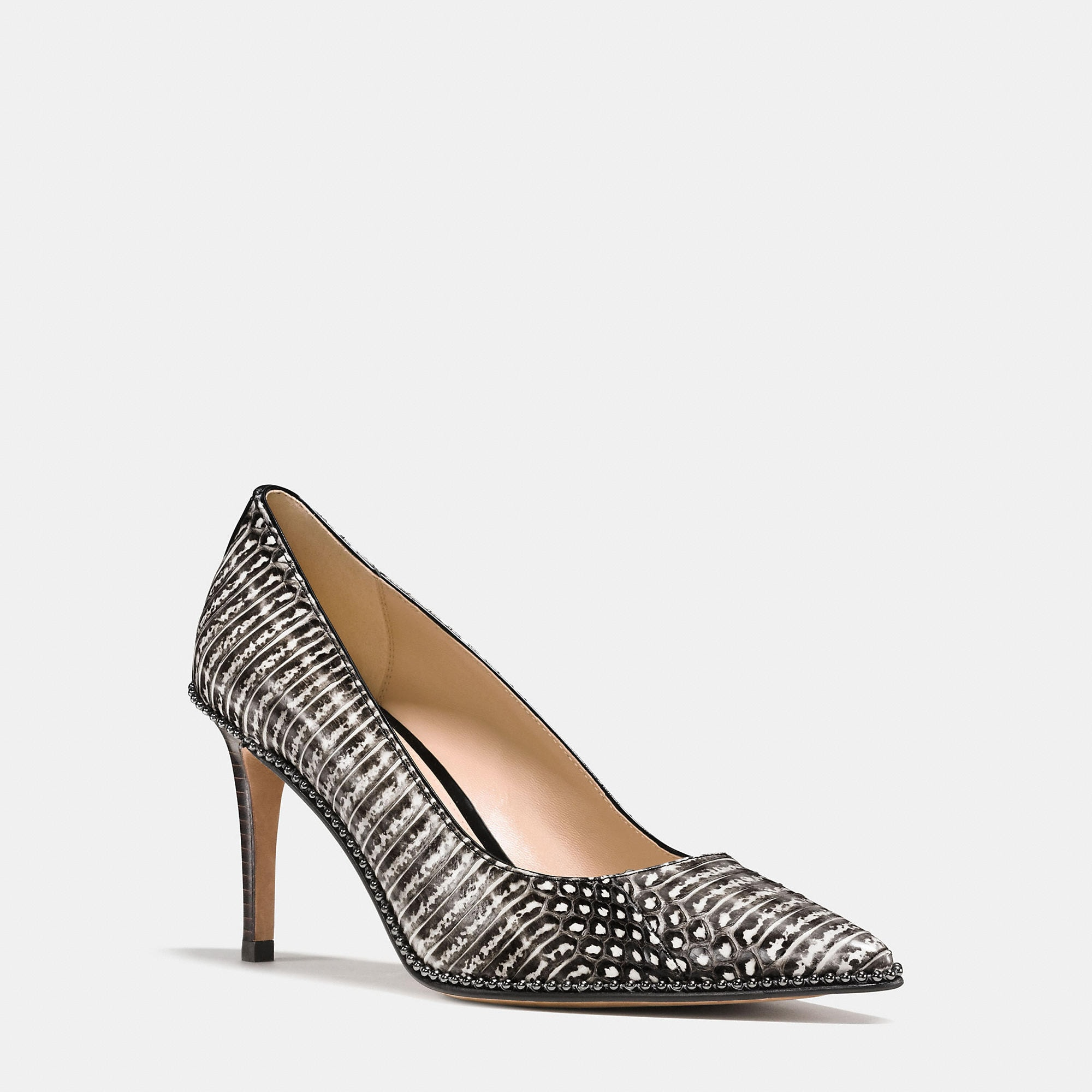 Coach Smith Beadchain Heel In Snake