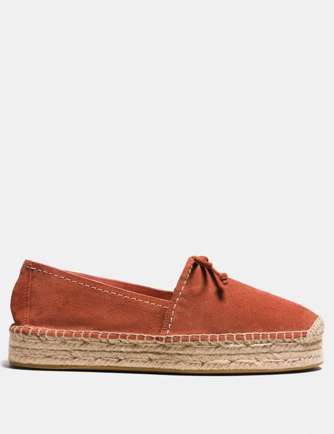 Coach Rae Espadrille Terracotta  Alternate View 1