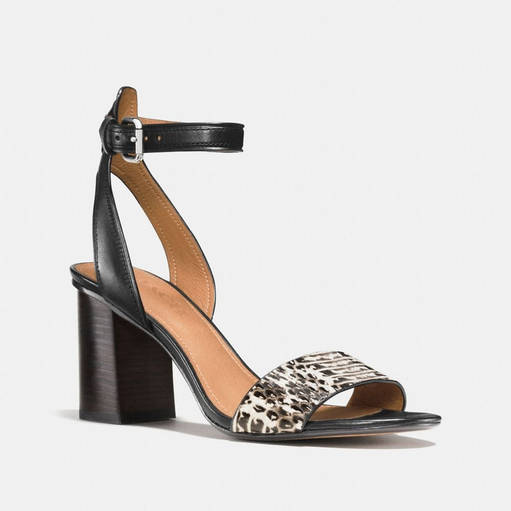 Coach Paige Heel With Snakeskin