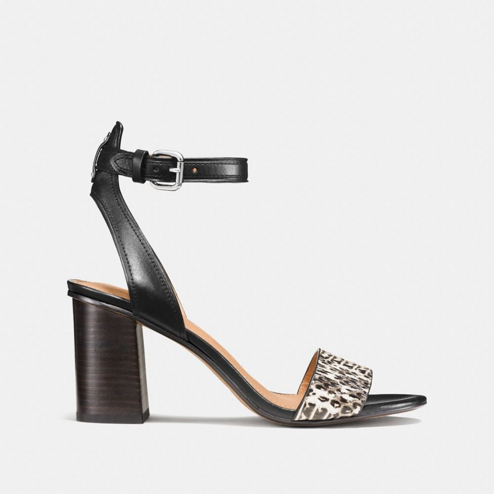 Coach Paige Heel With Snakeskin Alternate View 1