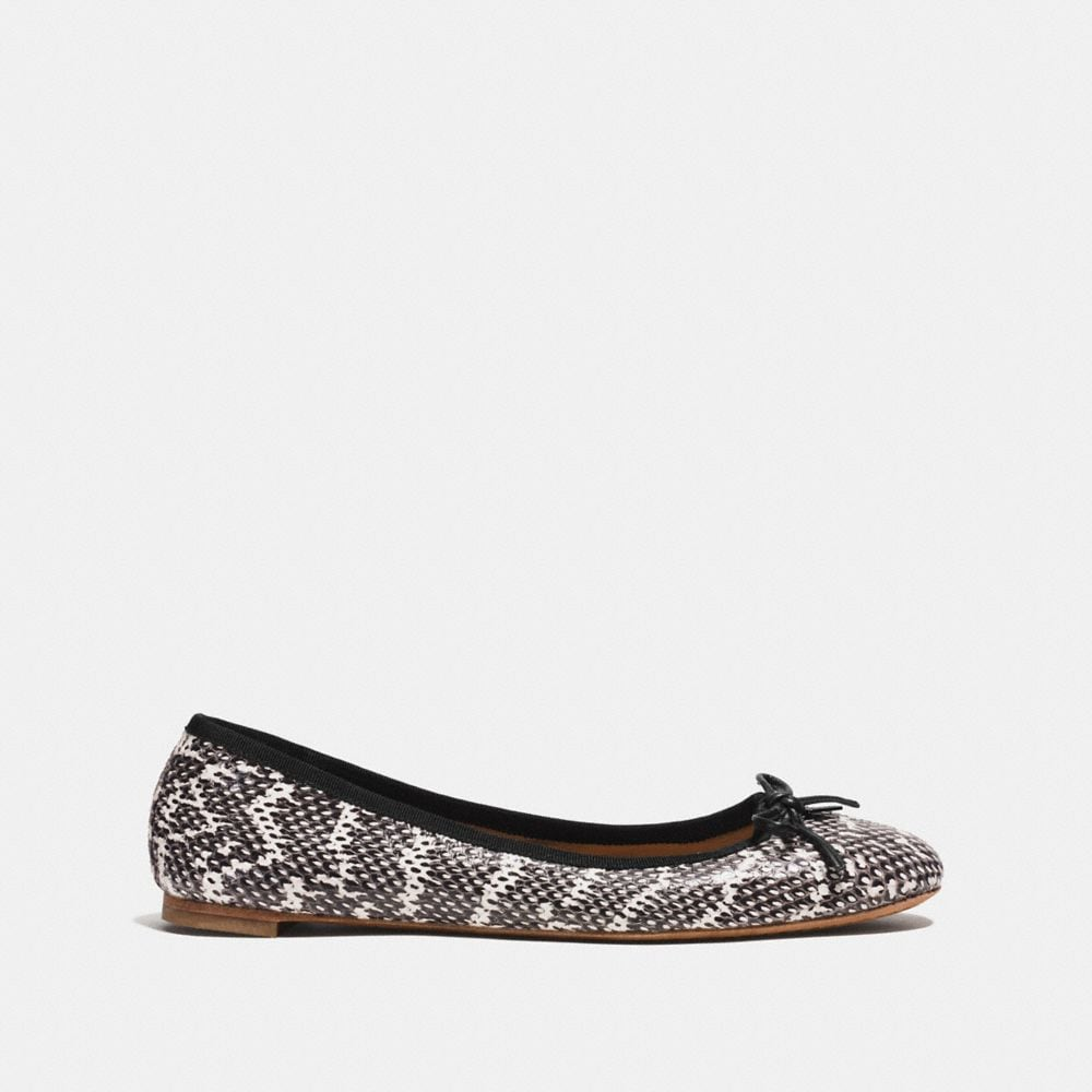 Coach Flatiron Flat in Snakeskin Alternate View 1