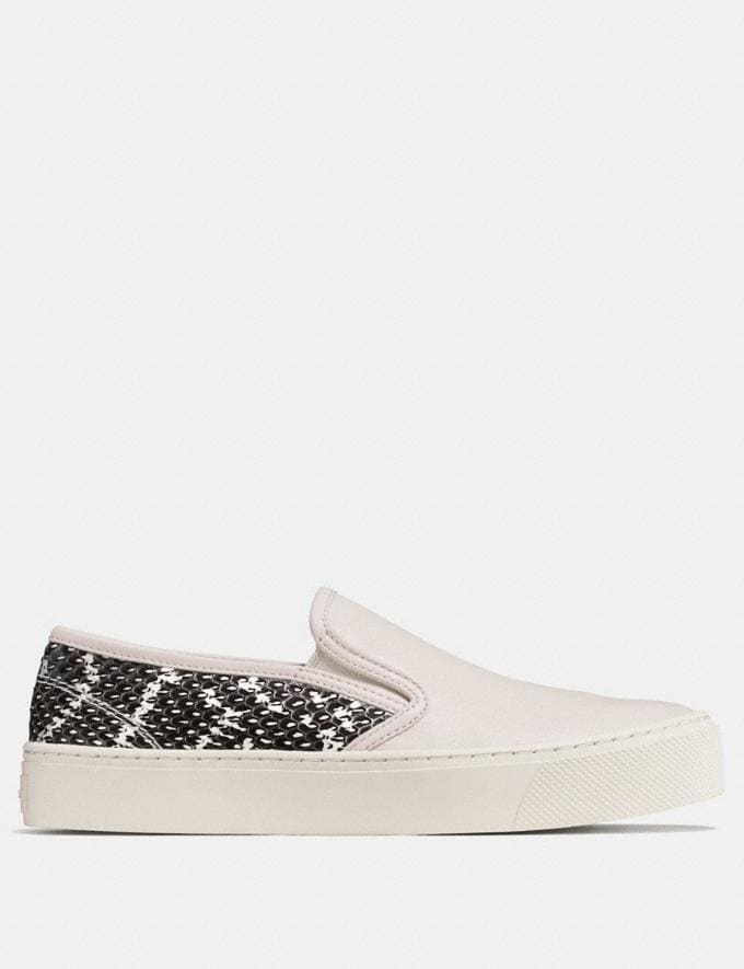 Coach Cameron Slip on  in Snakeskin Chalk/Black White SALE Women's Sale Shoes Alternate View 1
